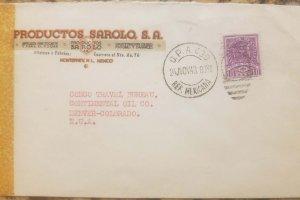 O) 1945 MEXICO, CROSS OF PALENQUE - 10c, OPA -AMBULANTE, PRODUCTOS SAROLO S.A. T