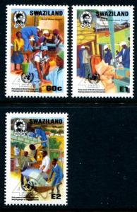 Swaziland 571-573, MNH, UN Development Program 40th Ann. 1990. x10155