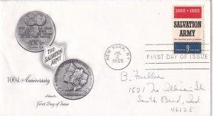 1965, Centennial The Salvation Army, Art Master, FDC (E12279)