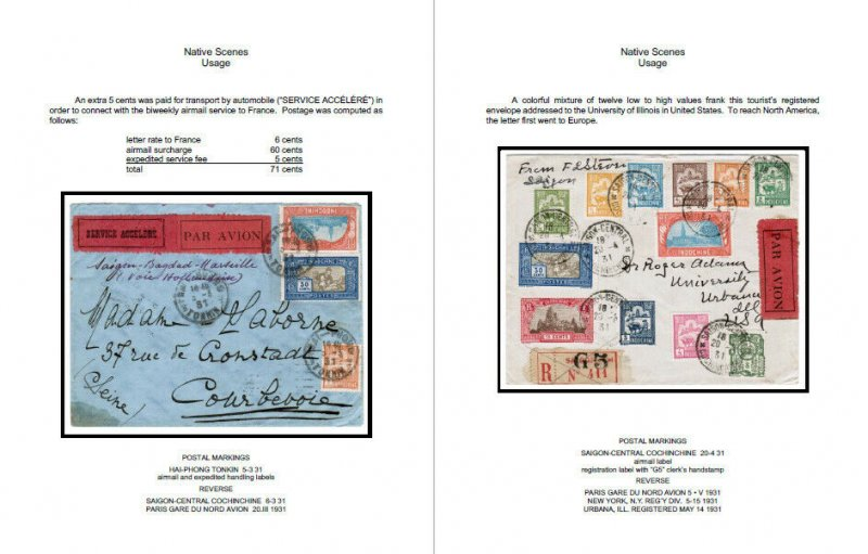FRENCH INDOCHINA SPECIALIZED PDF STAMP ALBUM + POSTAL CATALOGUE (3400+ pages)