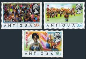 Barbuda 105-107,MNH.Michel 109-111. Carnival 1973.Costumes.