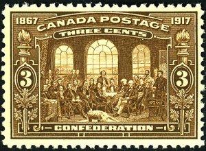 Canada #135 MINT OG NH Some gum glazing