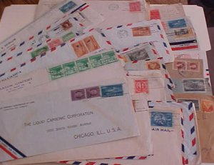 CUBA  46 COVERS  1940's  MOSTLY TO USA INCLUDES  2 REGISTERED