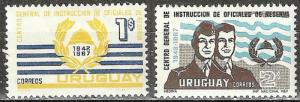 URUGUAY 1969  RESERVE TRAINING 1942 67 $1 & $2  #773 774 MNH Stamps