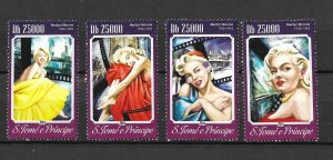 St. Thomas & Prince Island MNH Set Marilyn Monroe 2014