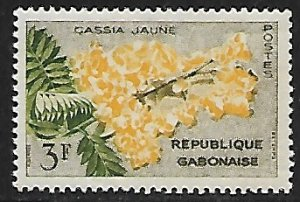 Gabon # 157 - Yellow Cassia - unused**.....{GR44}