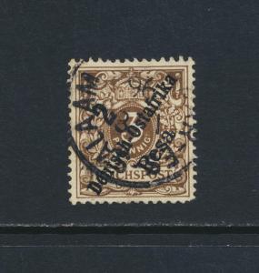 GERMAN EAST AFRICA 1896, 2p on 3pf DARK BROWN, VFU Sc#6 $38 (SEE BELOW)