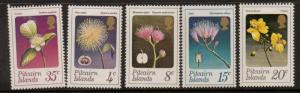 PITCAIRN ISLANDS SG126/30 1973 FLOWERS MNH