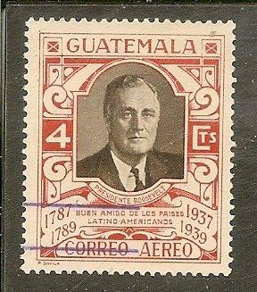 Guatemala  Scott C92b  Roosevelt  Used