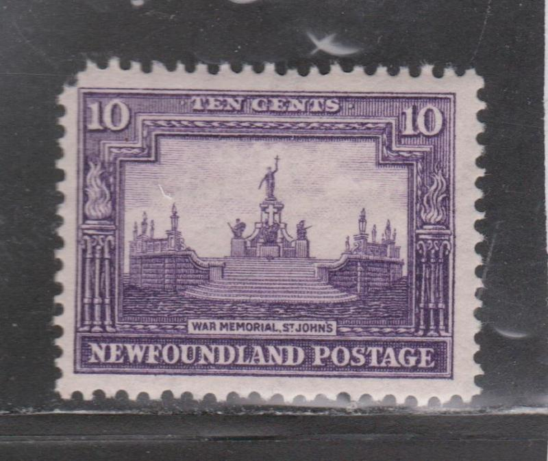 NEWFOUNDLAND Scott # 179 - Mint Hinged War Memorial Issue
