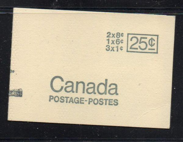 Canada Sc 454,460,544  cpl booklet  USC#BK69a  mint NH counter mark on cover