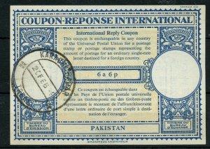PAKISTAN London type XVIn 6a 6p International Reply Coupon Reponse IRC 1956