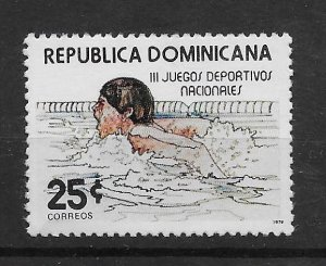 DOMINICAN REPUBLIC STAMP MNH #JULIO CV19