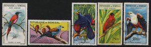 Senegal 19960/1963 Aor Mail / Birds in Natural Colors (5/5) USED