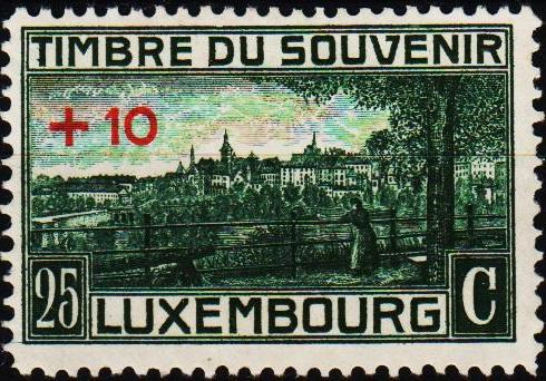 Luxembourg. 1921 25c+10c S.G.211 Mounted Mint