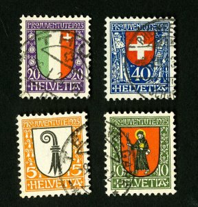 Switzerland Stamps # B25-8 VF Used Scott Value $85.25