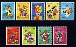 BELIZE - 1986 - DISNEY - MICKEY - MINNIE - PANCHITO - DONALD ++ MINT - MNH SET!