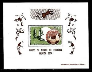 Niger, Scott cat. C231. Munich World Cup Soccer s/sheet.