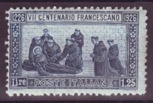 J16942 JLstamps 1926 italy mh #182 st francis