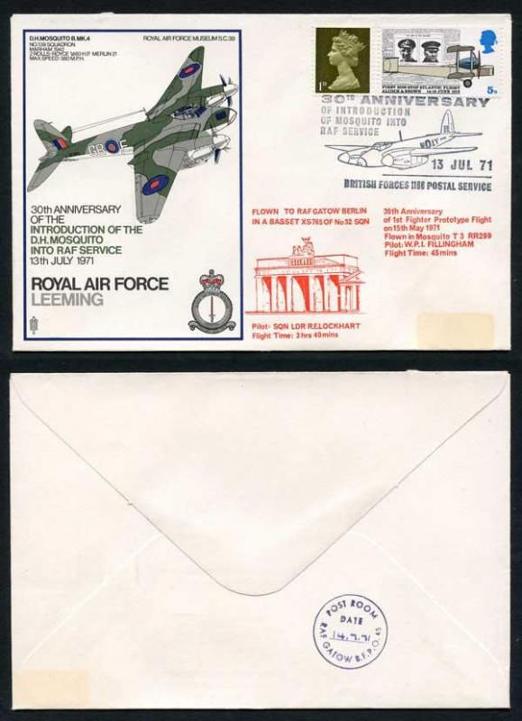 SC39a 30th Ann Introduction of D.H. Mosquito Into RAF Service Standard Cover