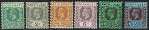 GOLD COAST 1921 KGV RANGE TO 2/- WMK MULTI SCRIPT CA