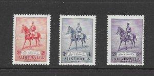 australia  152-54  1935  set  3  VF  NH