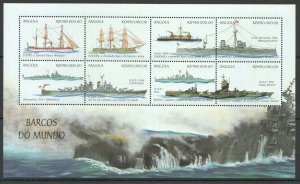 PK308 ANGOLA SHIPS & BOATS BARCOS DO MUNDO 1KB MNH STAMPS