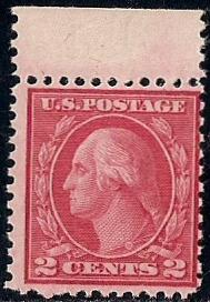 546 2 Cent Washington Carmine Rose Stamp Mint OG NH F VF