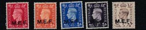 MIDDLE EAST FORCES  1942  SET OF 5  MH