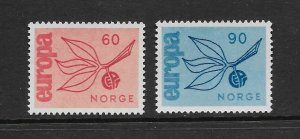 NORWAY - EUROPA 1965 - SCOTT 475 TO 476 - MNH