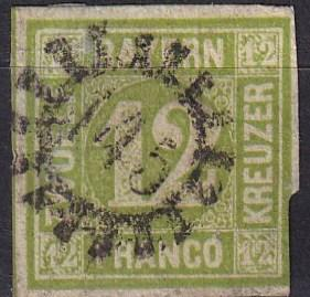 Bavaria #13  F-VF Used CV $70.00  (SU7334)