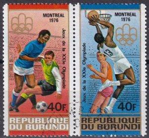 Burundi #498 F-VF Used  CV $4.00 (Z4632)