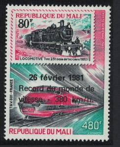 Mali World Railway Speed Record SG#861