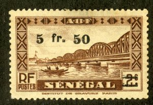 FRENCH WEST AFRICA 10 MH SCV $2.40 BIN $1.10 BOAT, BRIDGE
