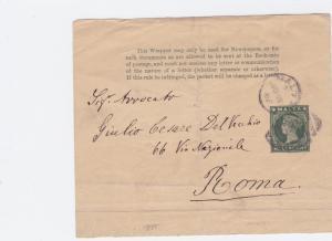 Malta 1890s part  stamps wrapper ref r20050