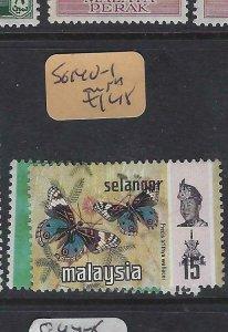 MALAYA  SELANGOR  (PP2901B)  BUTTERFLY  SG 140-1   MNH
