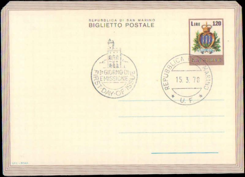 San Marino, First Day Cover, Air Letters