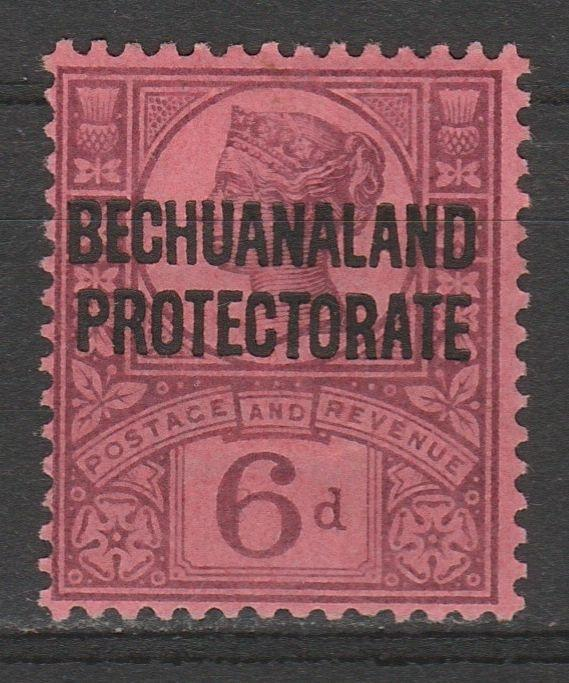 BECHUANALAND 1897 QV GB 6D PROTECTORATE