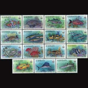KIRIBATI 1990 - Scott# 540-54 Fish Set of 15 NH
