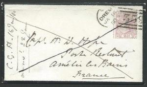 GB SCOTLAND 1880 2½d plate 13 on cover DREM to France......................53399