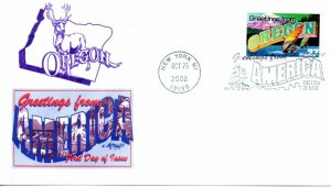 US FDC #3732 Greetings From Oregon, Artmaster (0882)