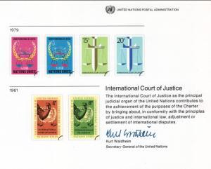 UN SC16 Court of Justice Souvenir Card Mint