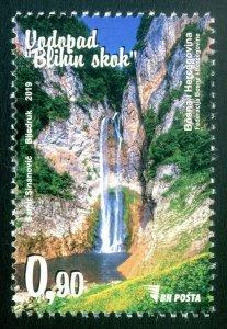 BOSNIA&HERZEGOVINA 2019 - Waterfall on the river Bliha (Natural Parks), MNH
