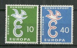 1958 Germany #790-1 Europa Cept C/S MNH