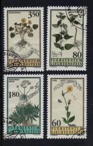 Liechtenstein  #1056-1059   1995  used  plants