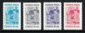 Costa Rica Scott #RA93-96 MNH