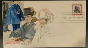 1938 $5.00 Prexy FDC w/ Unknown Hand-Painted Add-On Cachet