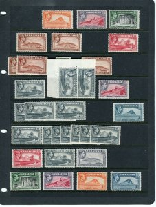 GIBRALTAR; 1938 early GVI issues fine MINT LOT of Shades values to 1s.