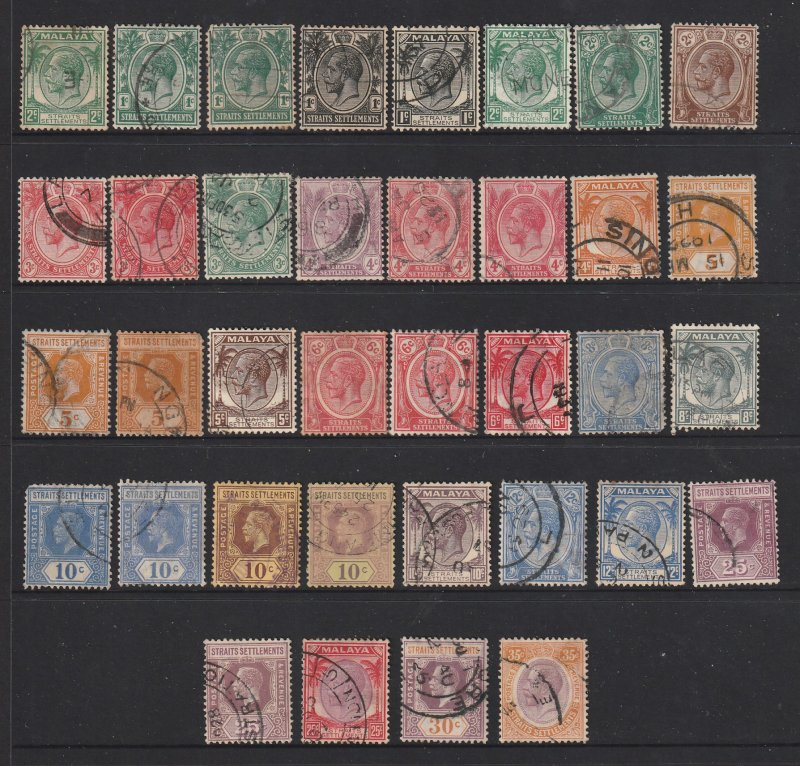 Straits sett. a mix of used KGV unsorted