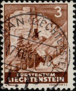 LIECHTENSTEIN - 1937 - Mi.156 (light shade) used SCHAAN / P.P. date stamp